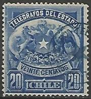 CHILI / TELEGRAPHE N° 3 OBLITERE - Chile