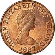 Monnaie, Jersey, Elizabeth II, 2 Pence, 1987, TTB, Bronze, KM:55 - Jersey