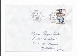 """Lettre Oblitération Hexagonale """"MONTBELIARD DOCKS 224""""  Du 27-10-1965 - Marcophilie (Lettres)"""