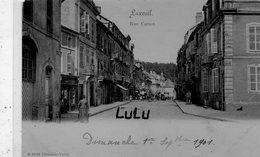 DEPT 70 : Précurseur édit. B 31794 Libr. Valot : Luxeuil Rue Carnot - Luxeuil Les Bains
