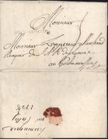 68 Haut Rhin Marque Postale DHVNINGVE 37x3 Noir Lenain N2 HUNINGUE 22 Fev 1728 Taxe Manuscrite 5 Pr Pont-à-Mousson - Postmark Collection (Covers)