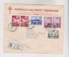 YUGOSLAVIA,1941 BEOGRAD Registered Cover Tuberculosis - 1931-1941 Regno Di Jugoslavia