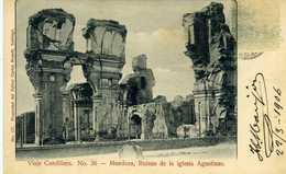 CHILI - Viaje Cordillera. N° 36 - Mendoza, Ruinas De La Iglesia Agustinas. - Chile