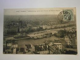 CPA,Paris Vue Des Tours De Notre Dame,voyagée 1907,BE - France