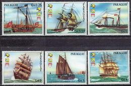 Paraguay - Mi-Nr 3772/3777 + 3778 Klbg Postfrisch / MNH ** (v716) - Schiffe