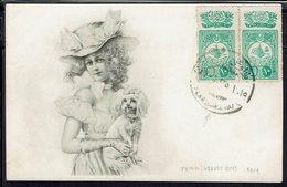 Turquie - 1909 - Affranchissement Paire 135 Sur Carte Postale Illustrée, De Péra Pour Paris - B/TB - - 1858-1921 Ottomaanse Rijk