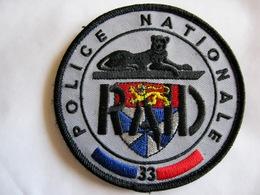INSIGNE TISSUS PATCH POLICE NATIONALE LE RAID ANTENNE RÉGIONALE DU 33 BORDEAUX ETAT EXCELLENT SUR VELCROS - Police & Gendarmerie
