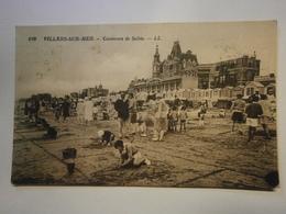 CPA,Villers Sur Mer Concours De Sable,Calvados 14,,voyagée 1939,TBE - Villers Sur Mer