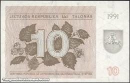 TWN - LITHUANIA 35b - 10 Talonu 1991 Prefix AM UNC - Lituanie