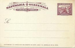 Guatemala Railway, Chemin De Fer Sur Entier Postal, Stationery 1900? - Trains