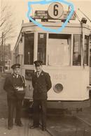 PHOTO  TRAM LIGNE 6 BOURSE UCCLE  BEURS UKKLE REPRO - Tramways