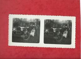 Photo Vue Stereoscopique   - Auto , Voiture Ancienne  -(  à Confirmer  Bugatti ) - Cartes Postales