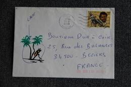 Timbre Sur Lettre Du SENEGAL ( MBOUR ) Vers FRANCE - Senegal (1960-...)