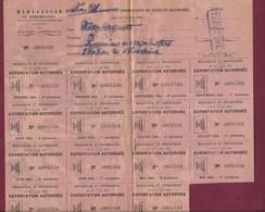 010420 - MADAGASCAR 1942 échange Commercial étiquettes EXPORTATION TAMATAVE Ticket De Rationnement 39/45 - 1939-45