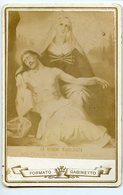 Tampon Monastere De Charité De Lorette Jesus Christ Mort Deploration Copie Tableau Religion Peinture Cabinet Card Cdv - Old (before 1900)