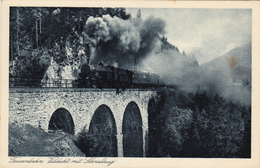 1130/ Tauernbahn, Viadukt Mit Schnellzug, Stoomtrein - Trains