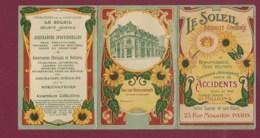 010420A - Calendrier Petit Format Triptyque - Pub Assurance LE SOLEIL Rue Mogador PARIS - Illustré Bâtiment Tournesol - Calendriers