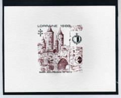 EP CNEP N°  9b EPREUVE DE LUXE - LORRAINE 1988 SUPERBE - CNEP