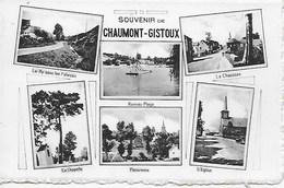 CHAUMONT GISTOUX. SOUVENIR. CARTE MULTIVUES. LA CHAUSSEE, LE RY, LA CHAPELLE, RONVEAU PLAGE, PANORAMA - Chaumont-Gistoux