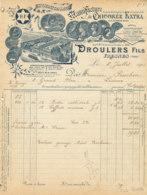 FA  1790  FACTURE   MANUFACTURE DE CHICOREE DROULERS  FILS FRESNES NORD - 1900 – 1949