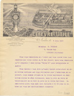FA  1797  FACTURE    PETIT BEURRE   LU  LEFEVRE UTILE  NANTES - 1900 – 1949