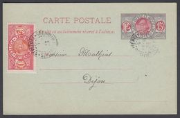 1923. SAINT-PIERRE-MIQUELON. CARTE POSTALE 15 C. + 10 C Fisherman Cancelled ST. PIERR... () - JF321873 - St.Pierre & Miquelon