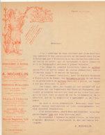 FA  1813 -  FACTURE    - SERRURERIE D'ART A. MICHELIN  PARIS - France