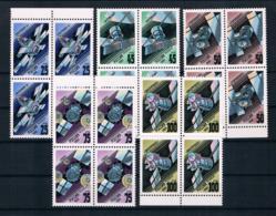 Russland 1993 Raumfahrt Mi.Nr. 301/05 Kpl. 4er Blocksatz ** - Unused Stamps