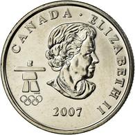 Monnaie, Canada, Elizabeth II, Ski Alpin, 25 Cents, 2007, Royal Canadian Mint - Canada