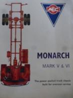 AEC Monarch  Camion Ancien Sale Brochure Catalogue PROSPEKT 1962  En Anglais 8p 215x280mm VINTAGE OLD TRUCK - LKW