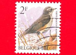 BELGIO - Usato - 1996 - Uccelli Di Buzin - Tordo Sassello - Turdus Iliacus - 2 - 1985-.. Birds (Buzin)