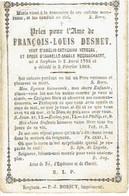 IZEGEM - François Louis  DESMET (Wedn. A. VERBEKE & Echtgen. I. MEERSSCHAERT) - °1795  En Overleden 1869 - (Franstalig) - Devotieprenten