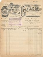 FA  1850 -  FACTURE   -  CYCLES SOCIETE LA FRANCAISE  PARIS - 1900 – 1949