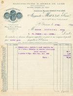 FA  1851 -  FACTURE   -  MANUFACTURE D'ARMES DE LUXE AUGUSTE MARIZE ST ETIENNE - 1900 – 1949