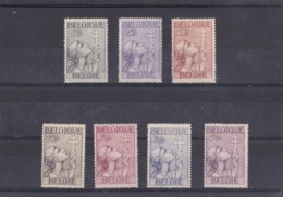 Timbres Belgique 377/83X - WW II