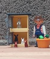 Playmobil - Le Fermier Avec Ses Lapins Et Clapiers - Other Collections