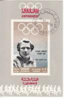 Bf. 511 Sharjah 1968 Atletica Leggera Fanny Blankers-Koen Oro Nuovo Preoblt. Perforato. Olimpiadi Londra 1948 - Summer 1948: London