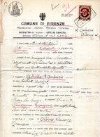 MUNICIPIO DI FIRENZE   CON MARCHE COMUNALI - Revenue Stamps