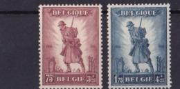 Timbres Belgique 351/52X - WW II