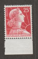 Variétés - 1955 - 59  - Type Muller -  N° 1011Cc -  20 F Rouge -  Avec Bandelette Inf. Blanche  - Neuf Sans Charnière  - - Curiosidades: 1970-79  Nuevos