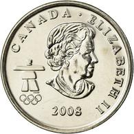 Monnaie, Canada, Elizabeth II, Figure Skating, 25 Cents, 2008, SPL, Nickel - Canada