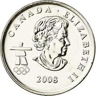 Monnaie, Canada, Elizabeth II, Freestyle Skiing, 25 Cents, 2008, SPL, Nickel - Canada