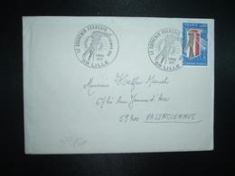 LETTRE TP SOUVENIR FRANCAIS 0,80 OBL.5 MARS 1977 59 LILLE PREMIER JOUR - Guerre Mondiale (Seconde)