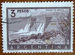 """1956 ARGENTINA Dighe Embankment Dam """"El Nihuil"""" - 3p  Usato - Argentina"""