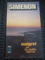 SIMENON: Maigret Et La Vieille Dame / PRESSES POCKET 1955 - Libros, Revistas, Cómics