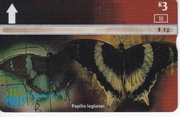 TARJETA DE PAPUA Y NUEVA GUINEA DE UNA MARIPOSA (BUTTERFLY) (109L) - Papouasie-Nouvelle-Guinée