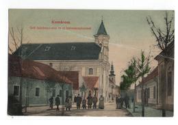 Hongarije Hungaria - Komarom - Grof Szechenyl Utca Az Uj Katonatemplommal   - 1909 - Hungary