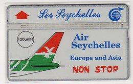 SEYCHELLES Ref MV Cards : SEY-12 120 U AIR SEYCHELLES CN 105H  Année 1991 4000ex - Seychellen