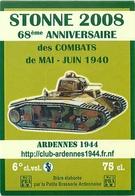 Ancienne étiquette F15 BIERE FRANCAISE - PETITE BRASSERIE ARDENNAISE - STONNE 2008 68 EME ANNIVERSAIRE DES COMBATS 1940 - Bière