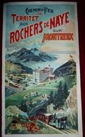 4.Depliant Chemin De Fer De Territet Aux Rochers De Naye Sur Montreux  1903 - Dépliants Touristiques